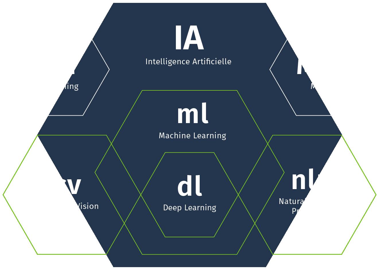 Expertises Inceptive, schéma des différentes branches de l'intelligence artificielle